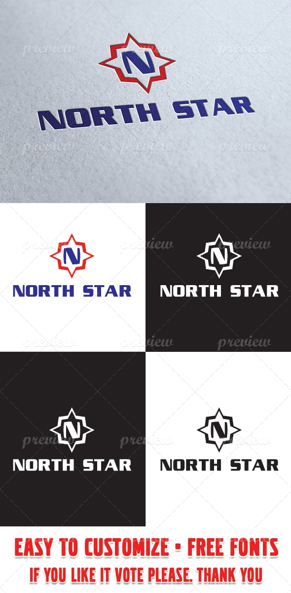 Nord Star Logo Template