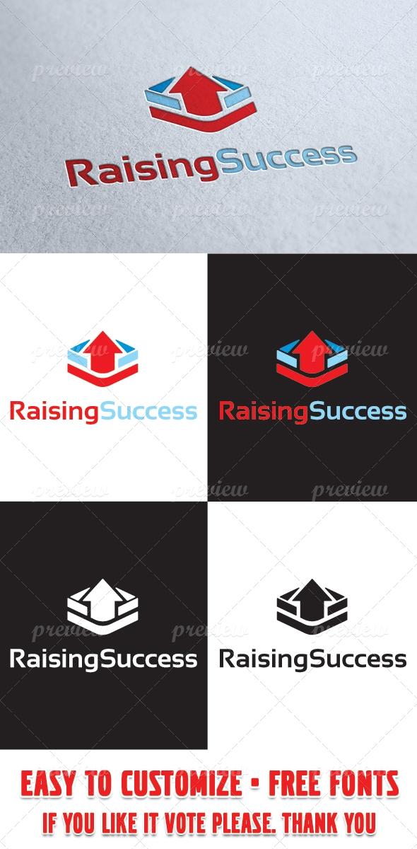 Raising Success Logo Template