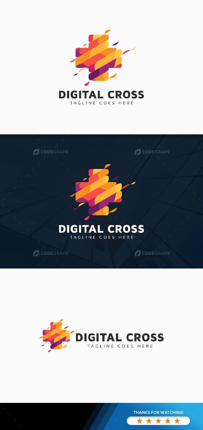 Digital Cross Logo