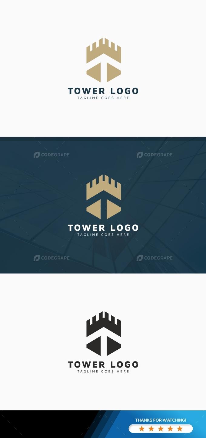 Tower T Letter Logo