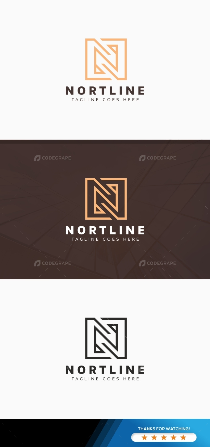 N Letter Line Logo