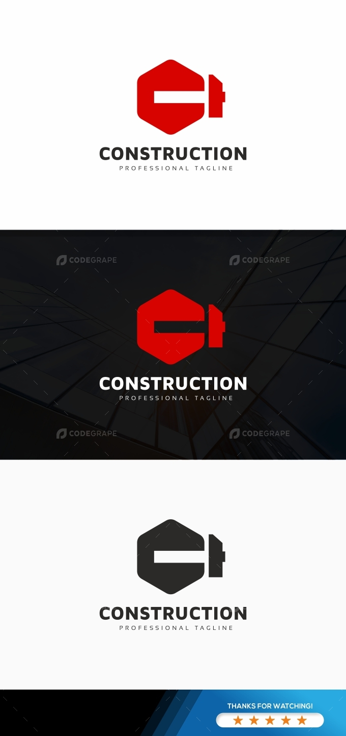 Construction C Letter Logo