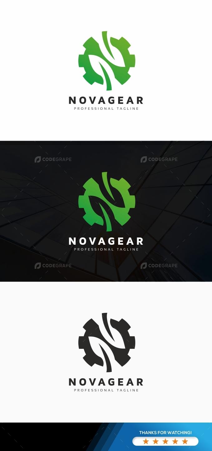 N Letter Leaves Logo