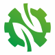 N Letter Leaves Logo