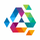 Triangle Colorful Polygon Logo