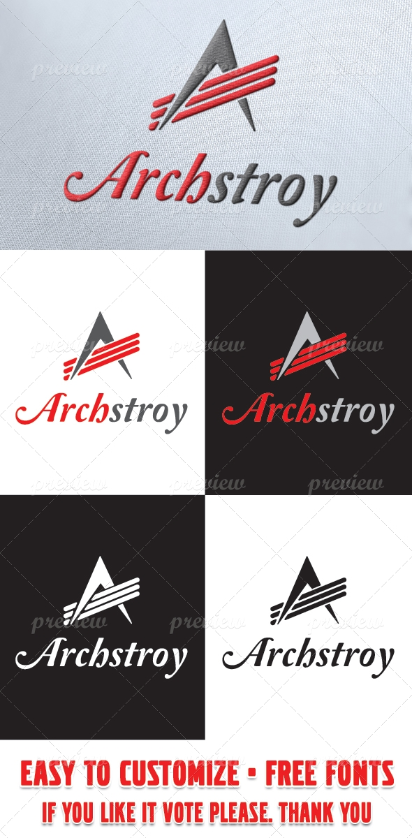 ArchStroy Logo Template