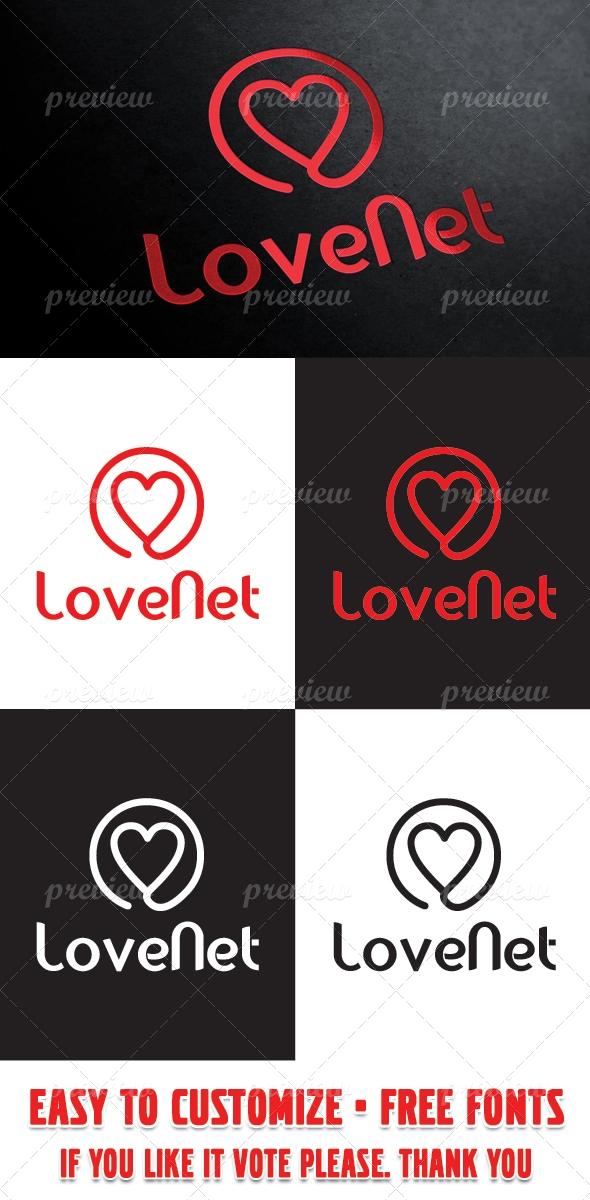 Love Net Logo Template