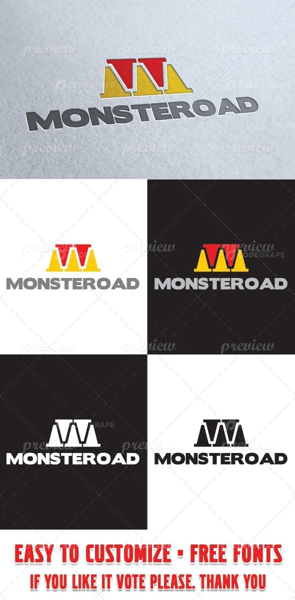 Monster Road Logo Template
