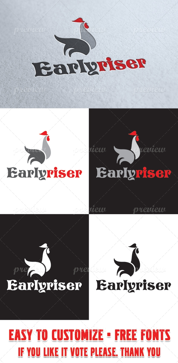 Earlyriser Logo Template
