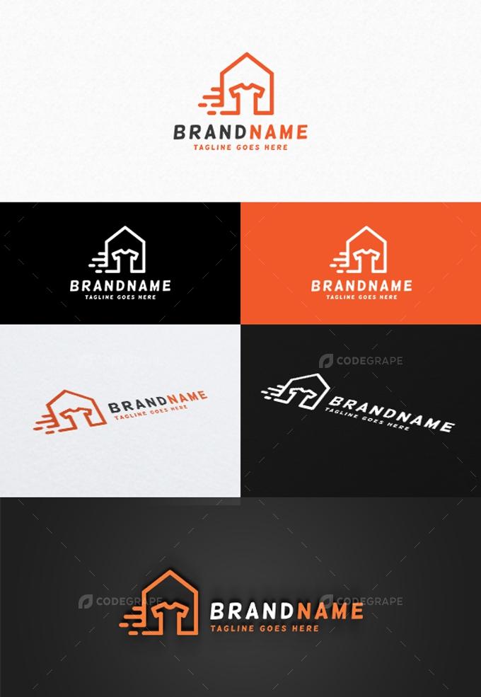 Laundry House Logo Template