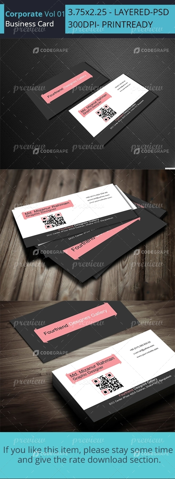 Corporate Business Card Vol 07