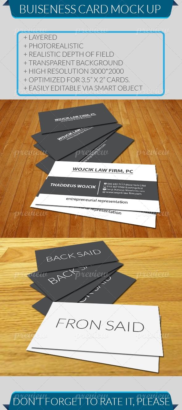 Business Card Mock Up V 02