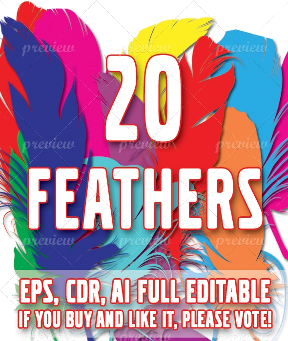 20 Feathers Pack