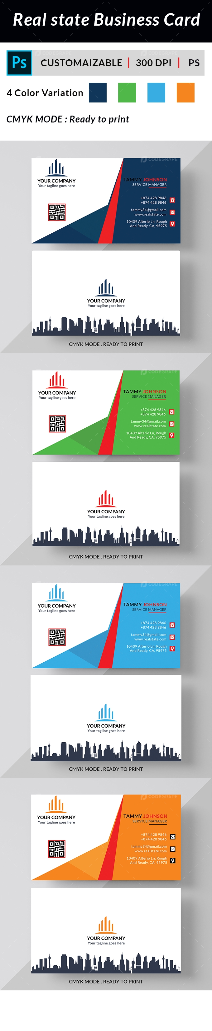 Real State Business Card
