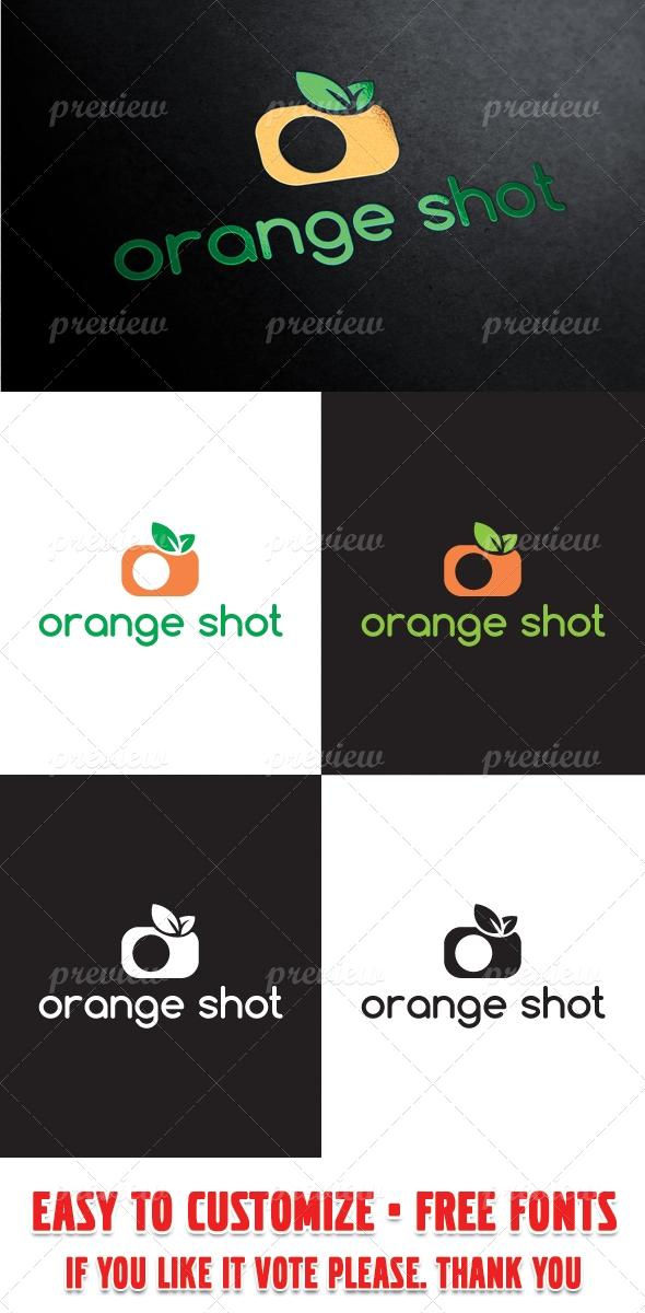 Orange Shot Logo Template