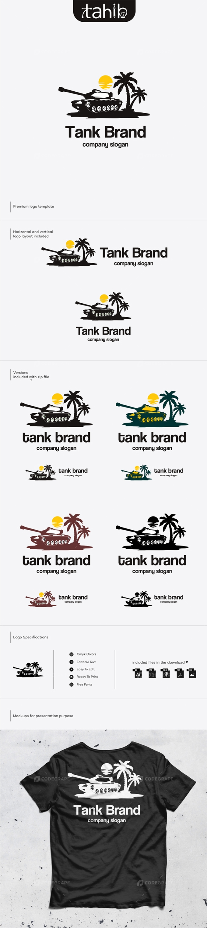 Tank Logo Template