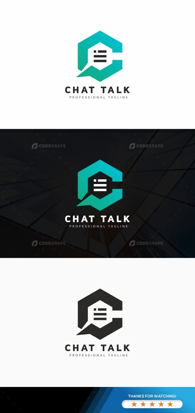 Chat Talk C Letter Logo