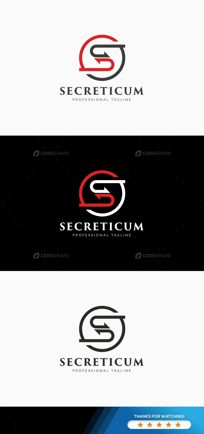 S Letter Arrows Logo