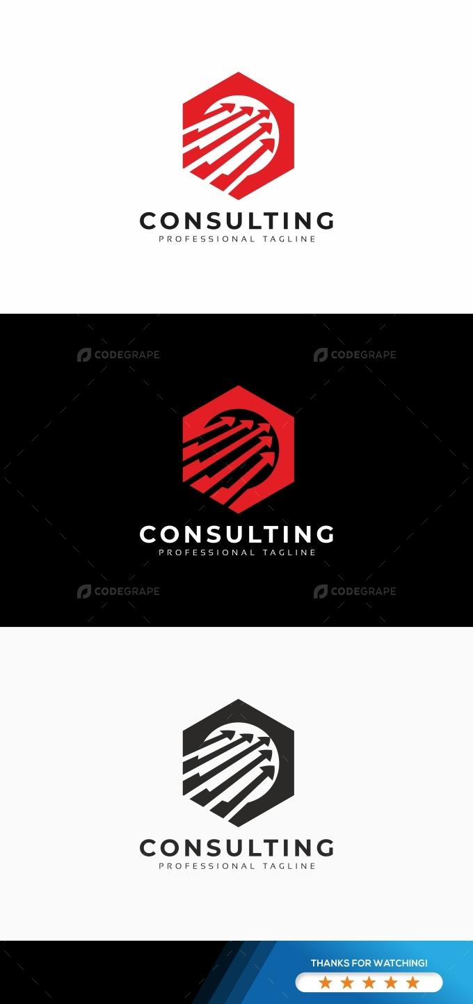 Consulting Hexagon Logo