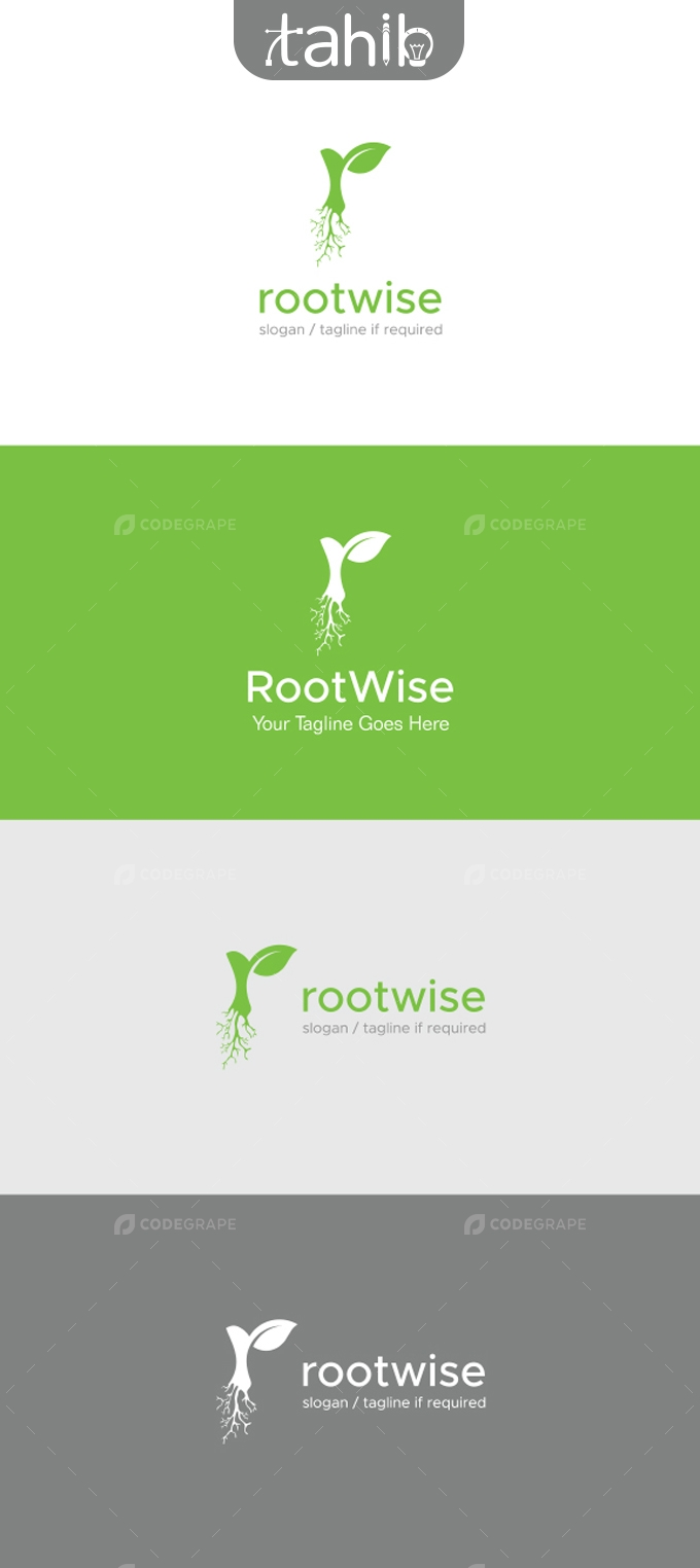 Letter R Root Logo Template