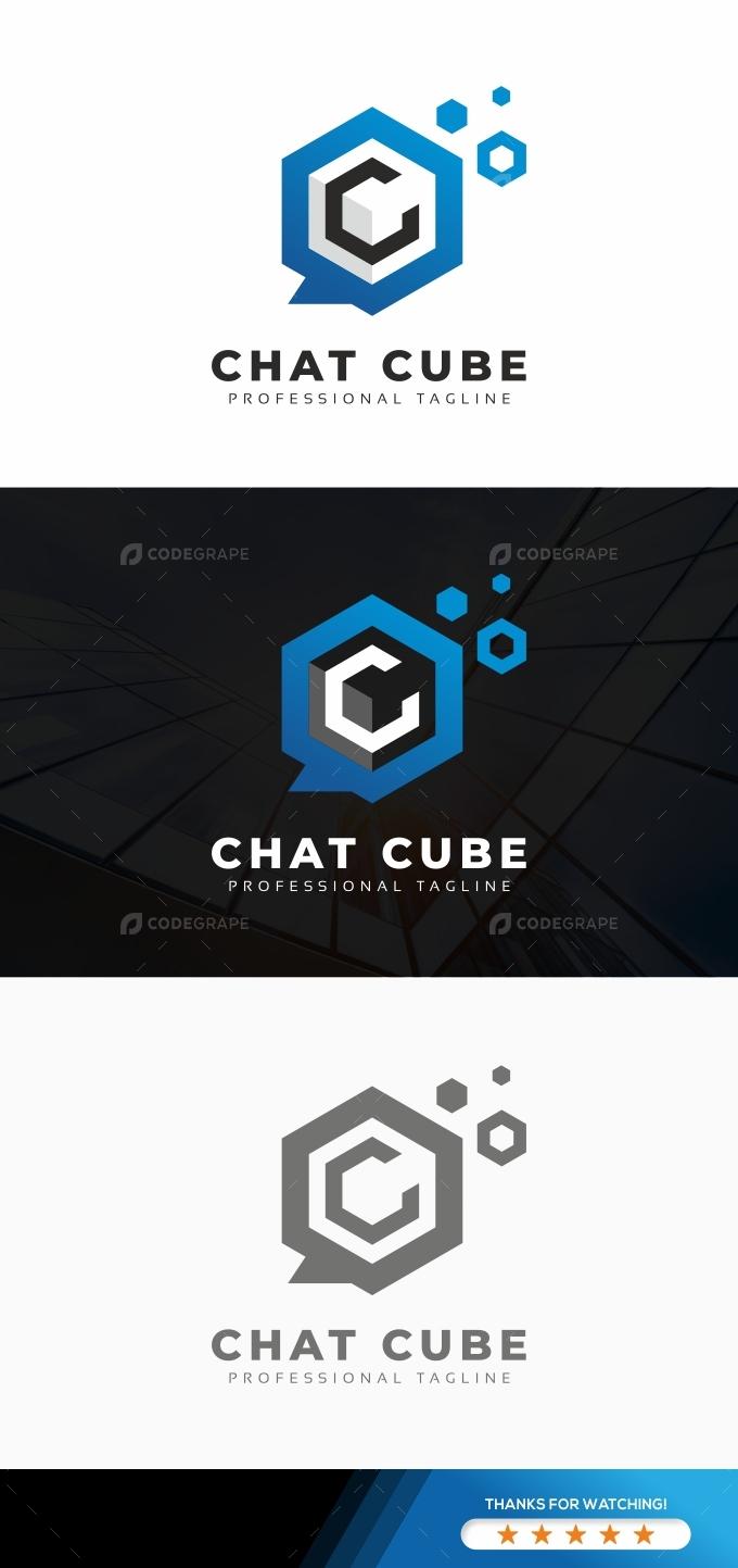 Chat Cube Logo