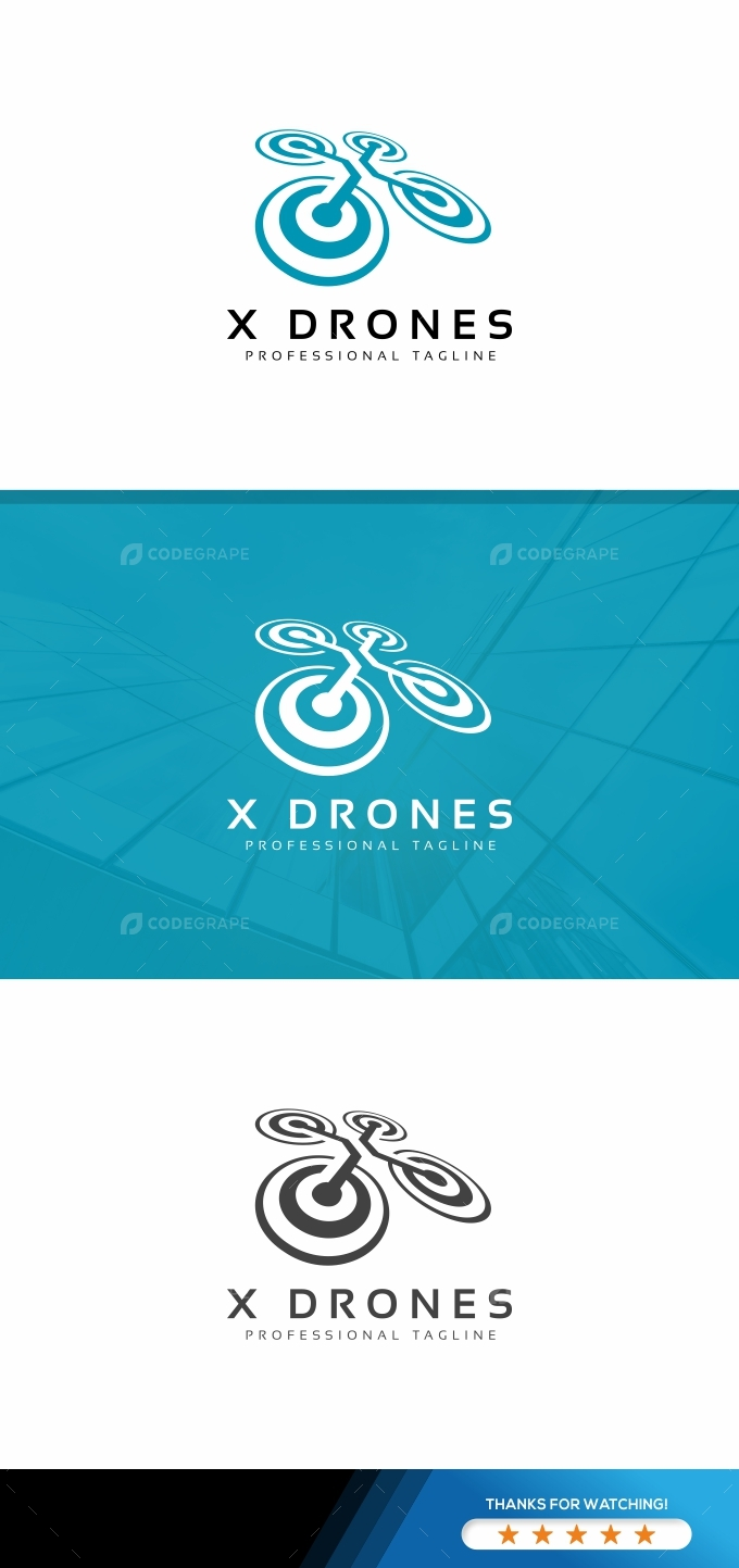X Drones Logo