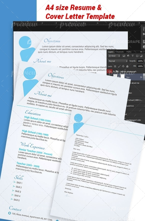 A4 Resume & Cover Letter Template