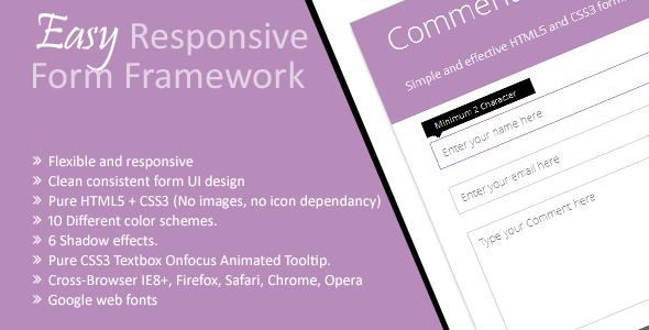 Easy Responsive Form Framework
