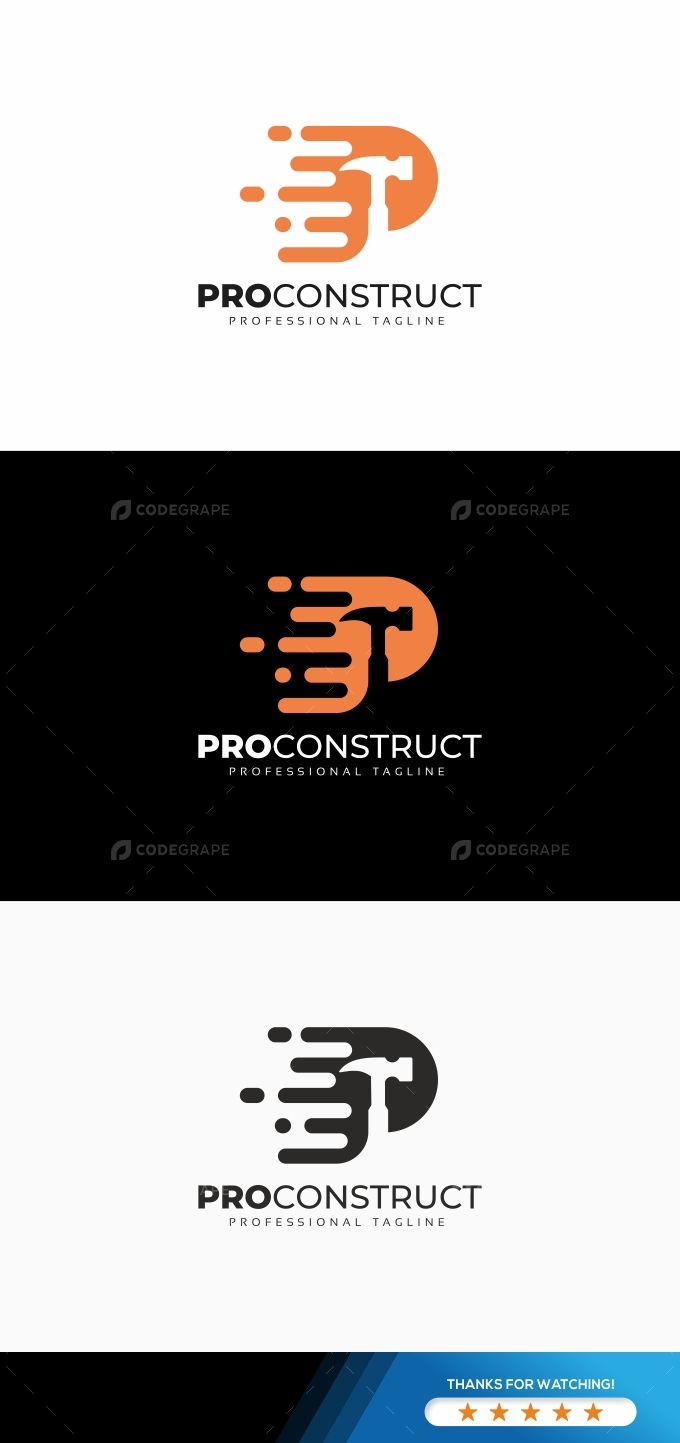P Letter Construct Logo
