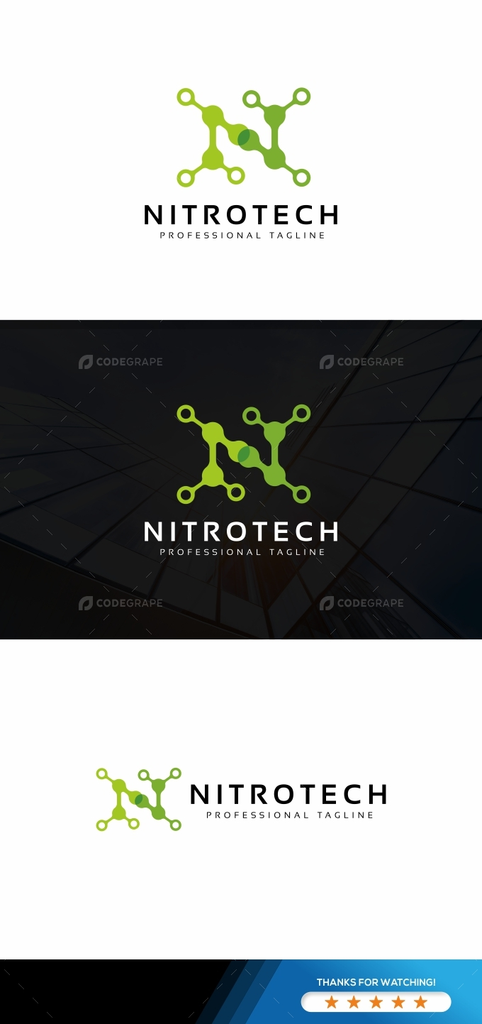 Nitro Tech N Letter Logo