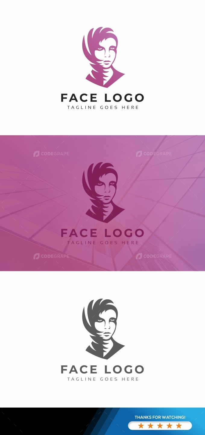 Face Woman Logo