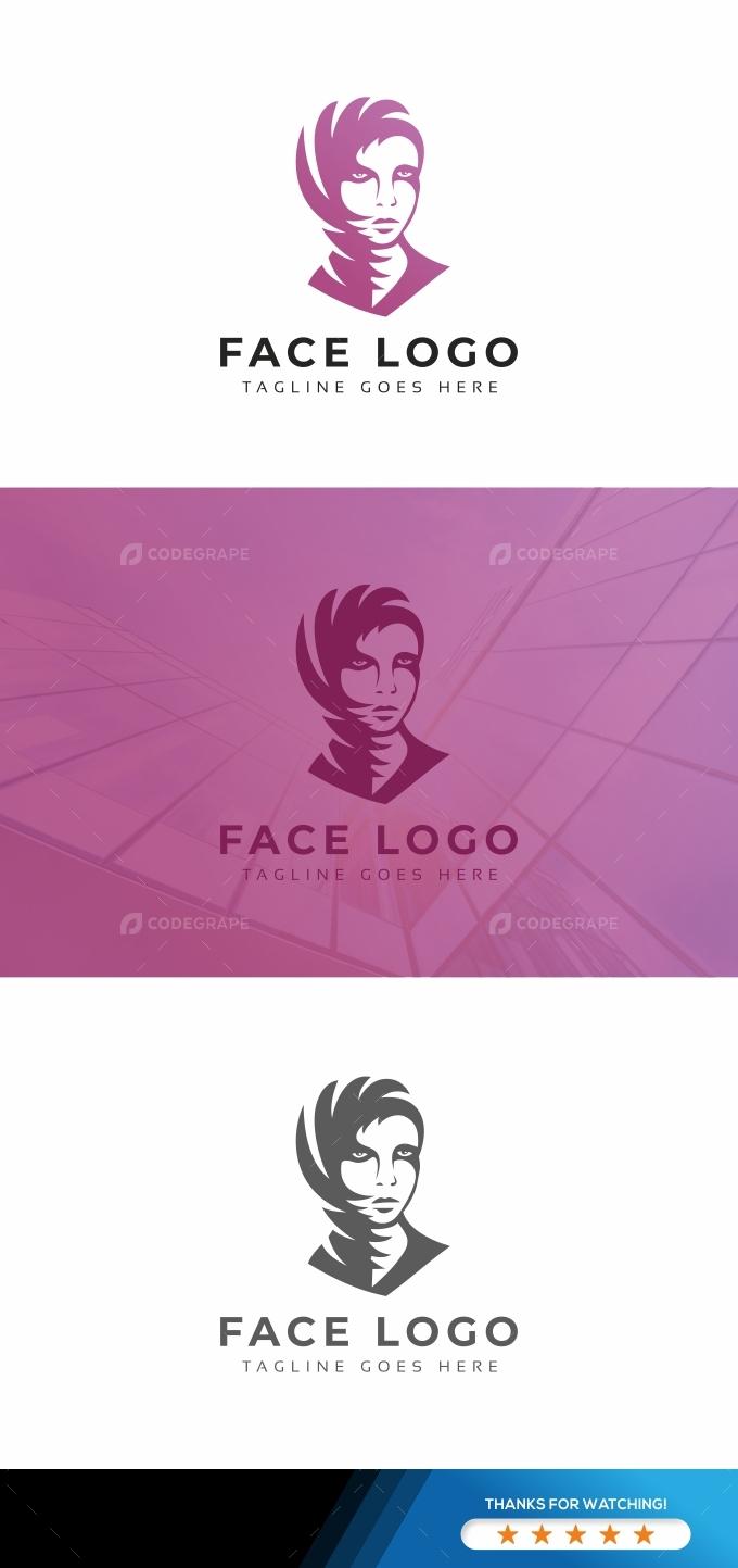 Face Woman Logo