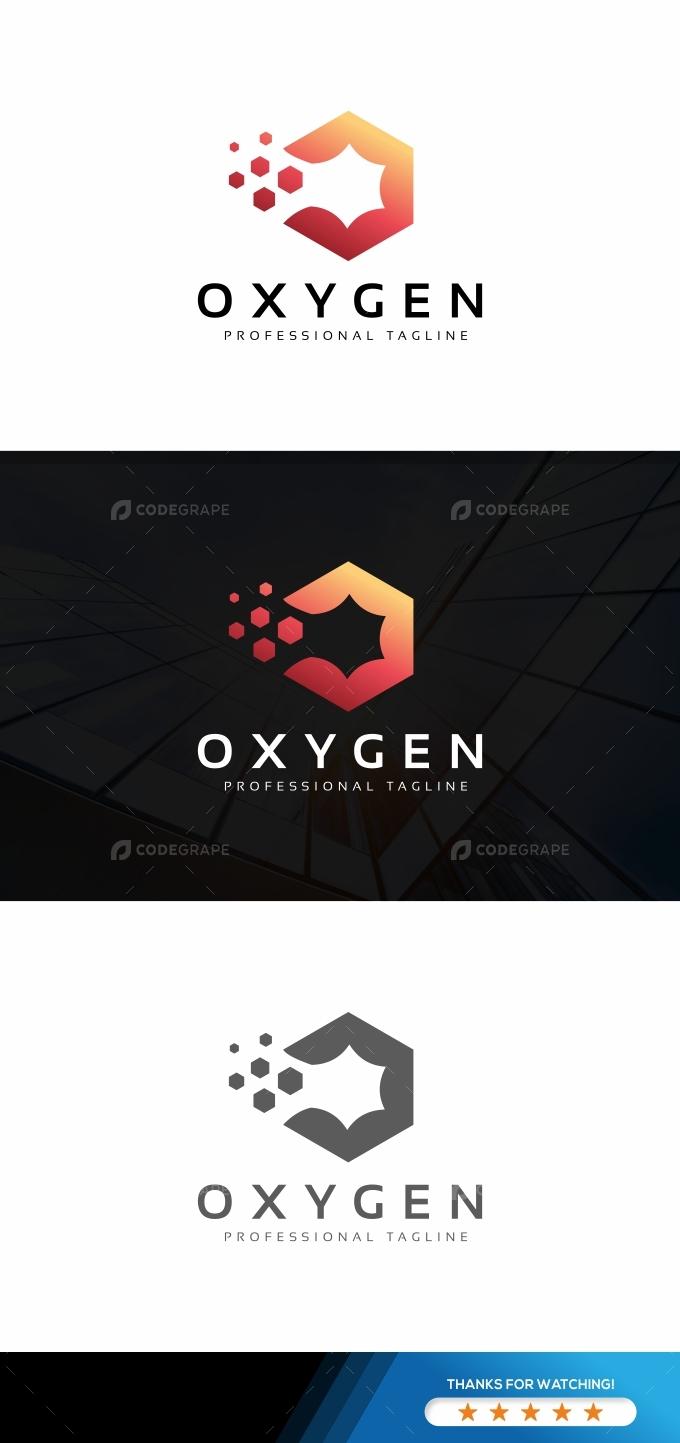 Oxygen O Pixel Logo