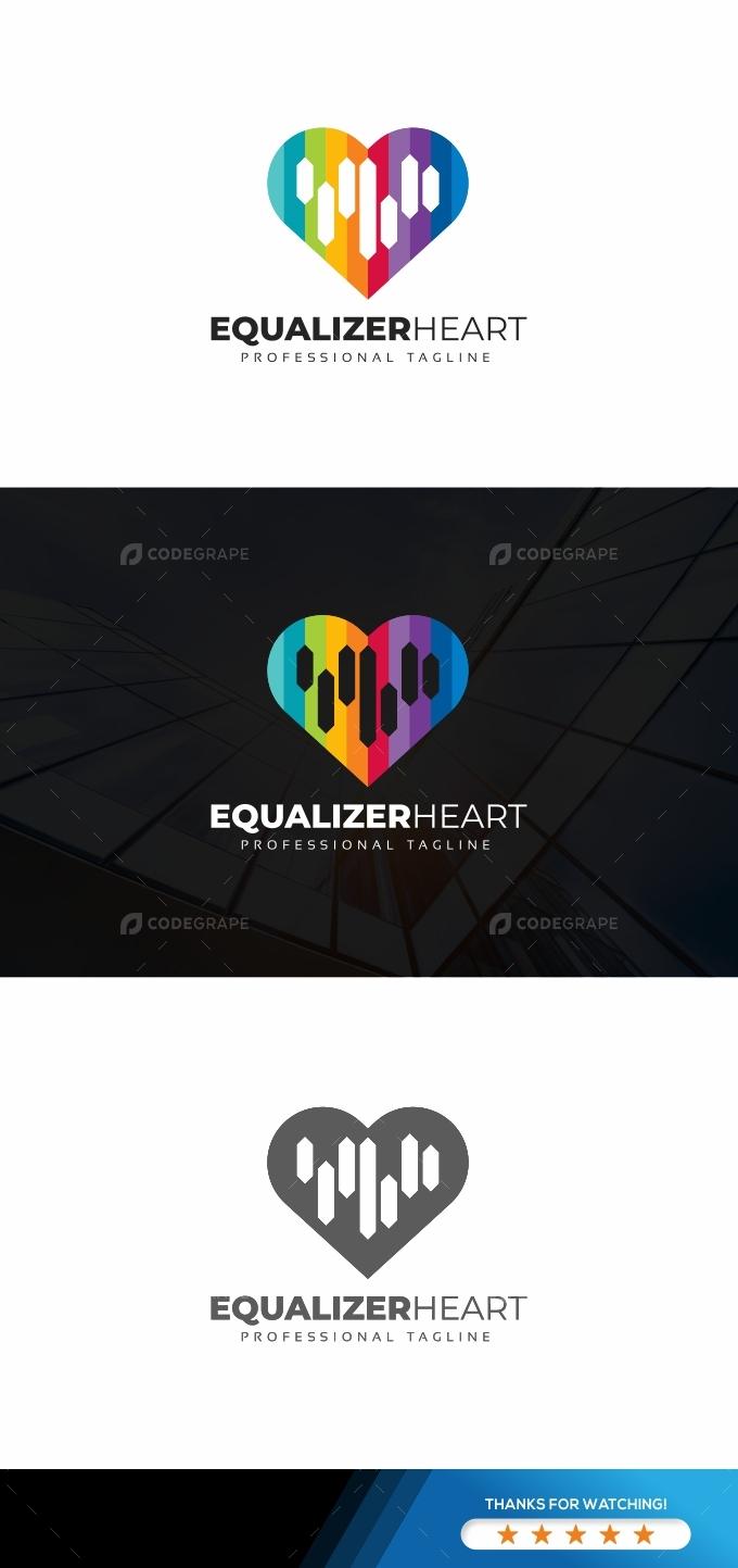 Equalizer Heart Logo