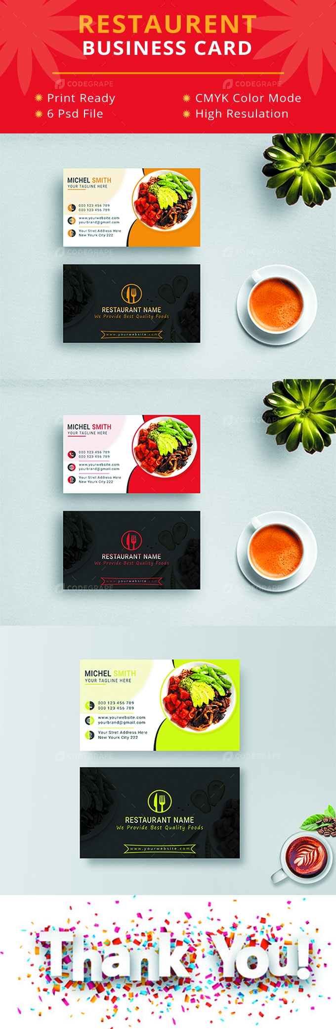 Restaurent Business Card