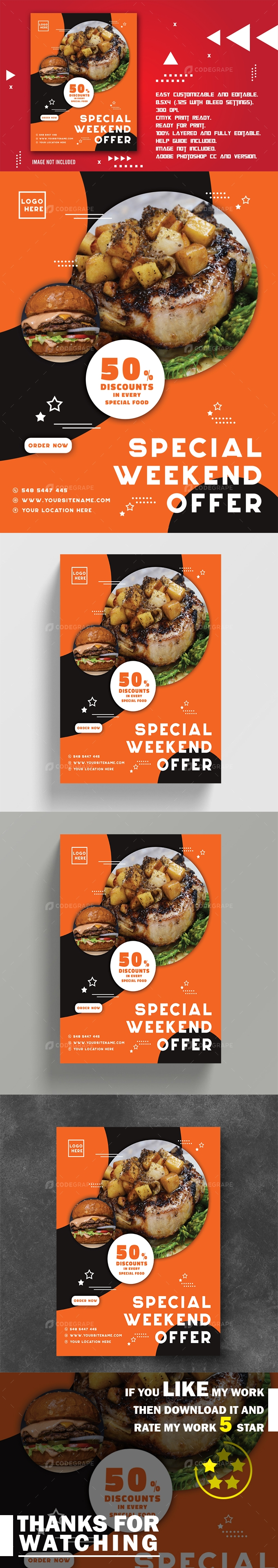 Special Weekend Food Promotional Flyer