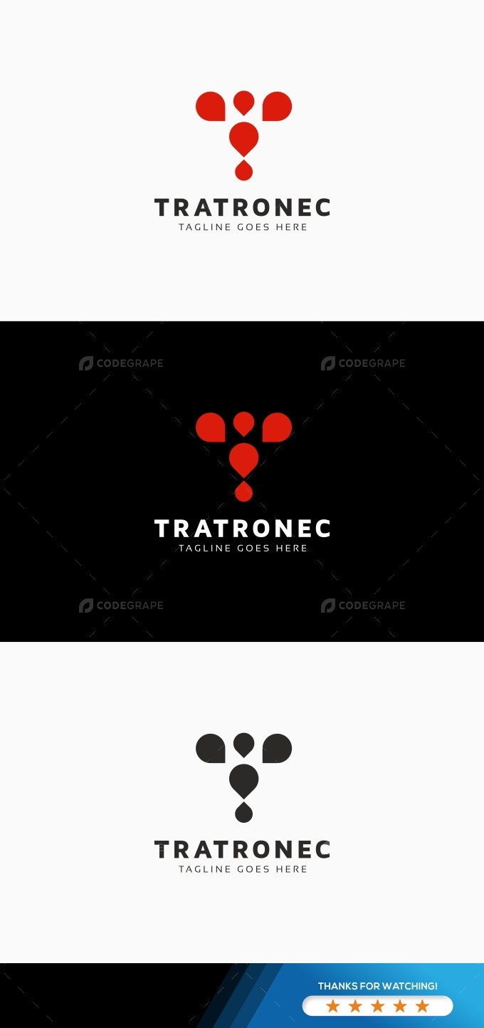 Tratronec - T Letter Logo