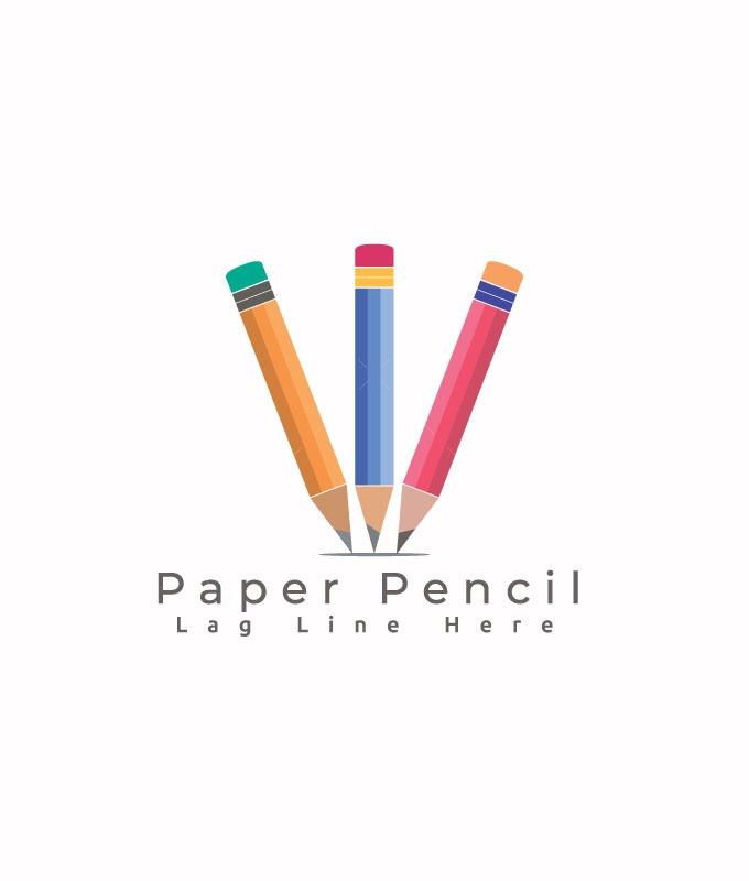 Paper Pencil Logo Template