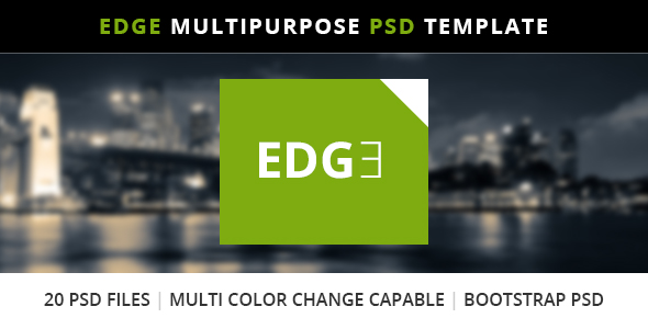 Edge Multipurpose Bootstrap PSD Template