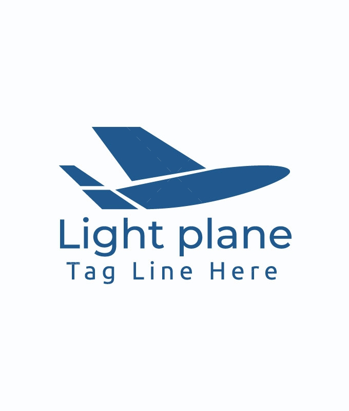 Light Plane Logo Template