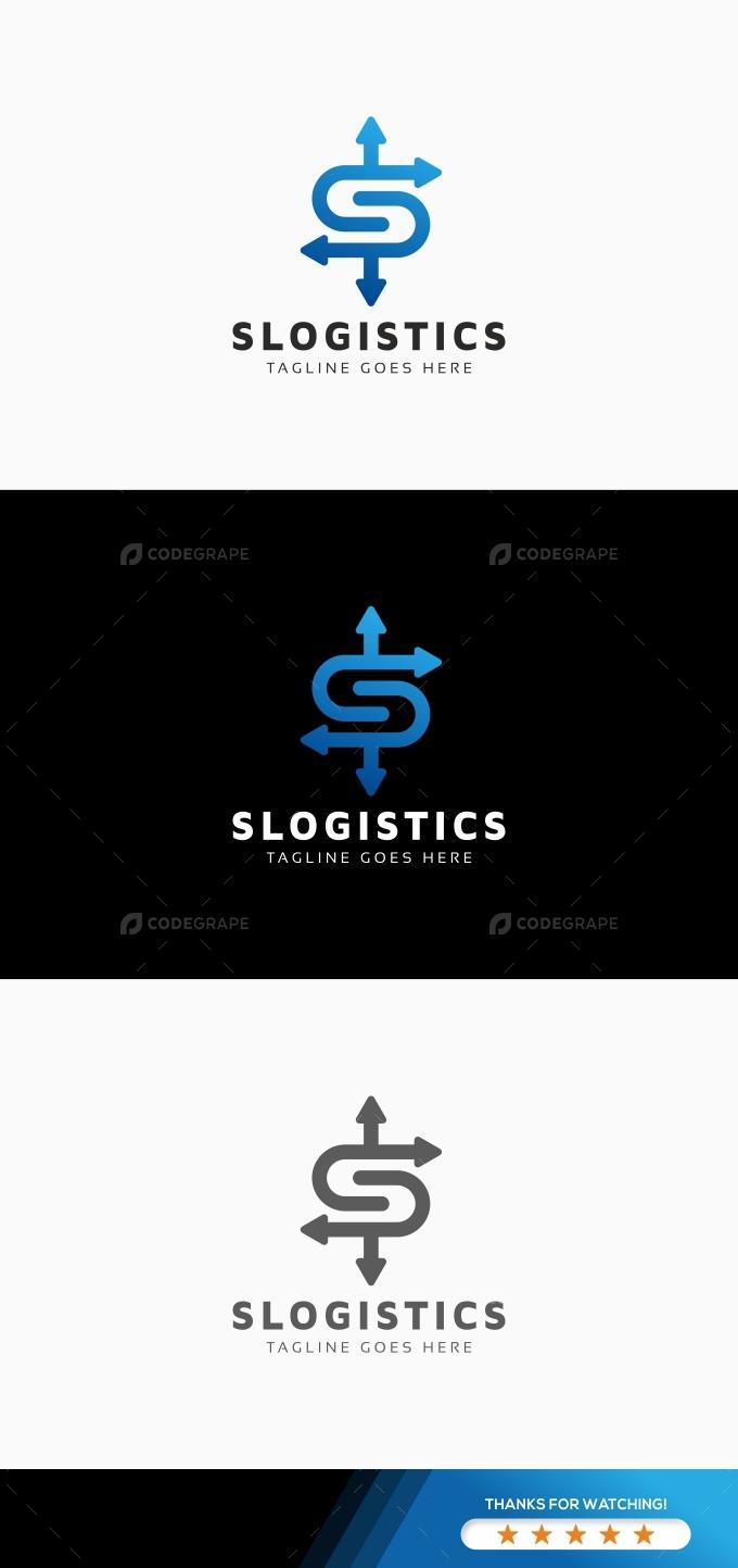 S Letter Logistics Logo