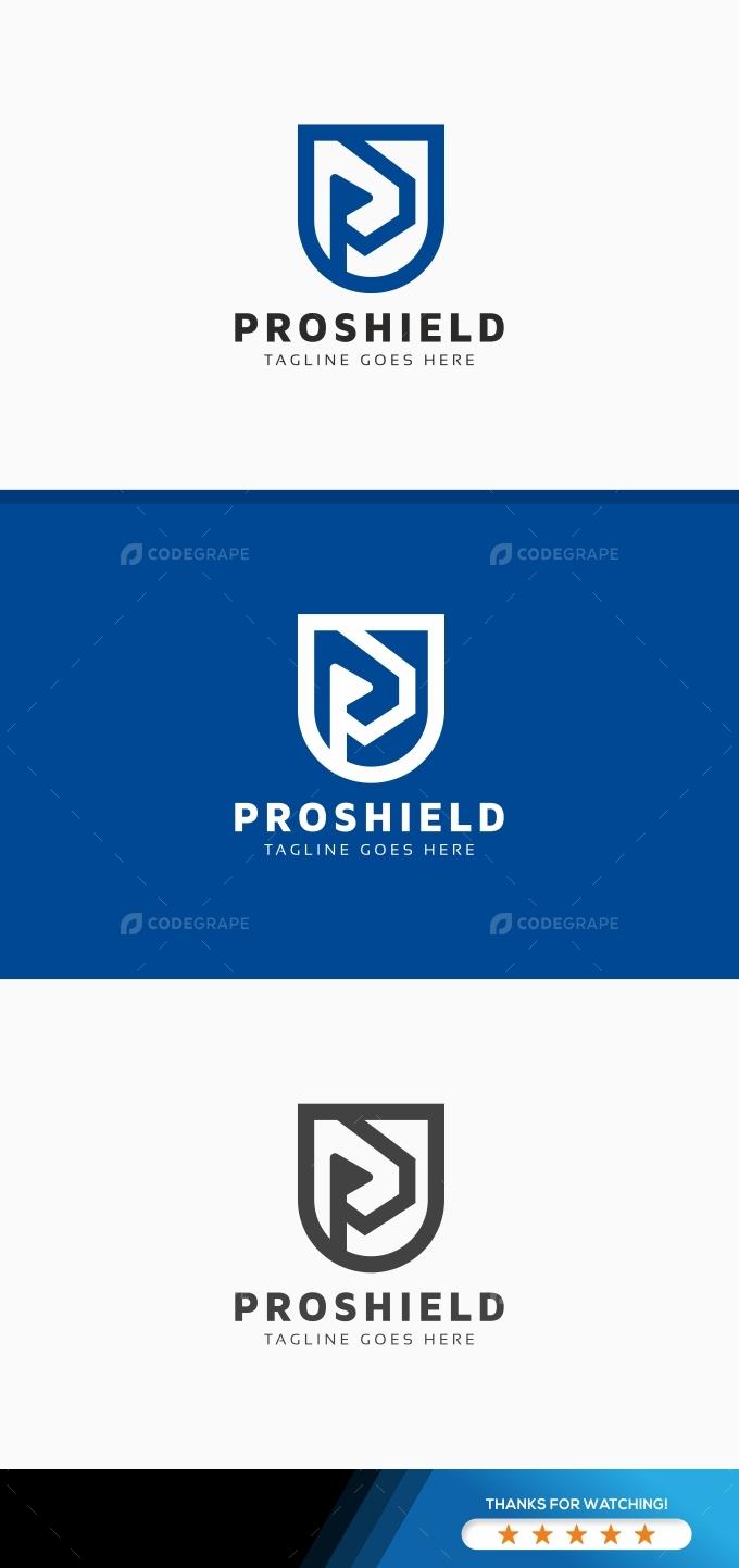 P Letter Shield Logo