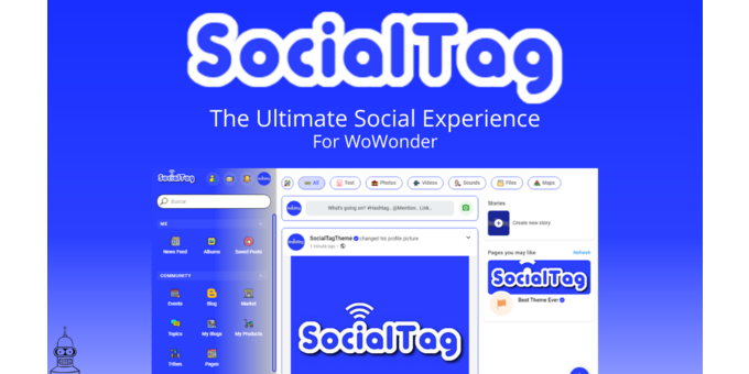 SocialTag for WoWonder: The Ultimate Social Experience