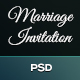 Marriage Invitation Single Page Bootstrap PSD Template