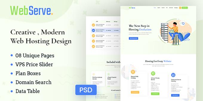 WebServe - Creative Modern Web Hosting Template