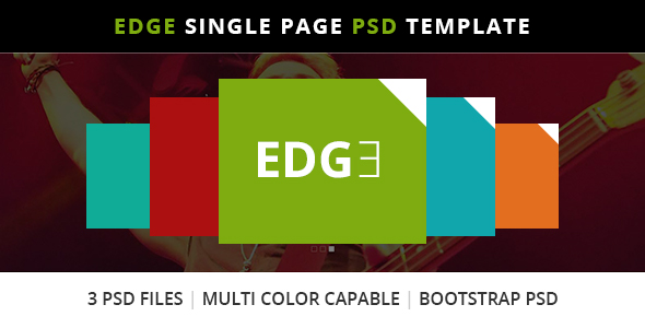 Edge Single Page Bootstrap PSD Template