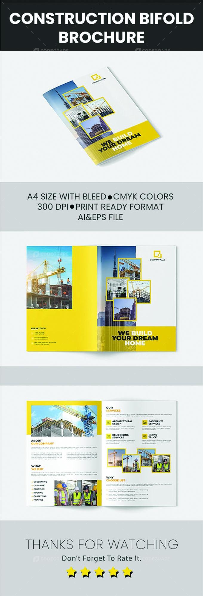 Construction Bifold Brochure