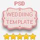 Wedding Invitation Responsive PSD Template