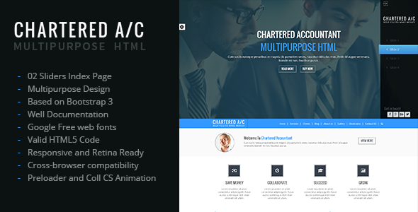 Chartered Accountant Multipurpose HTML Theme