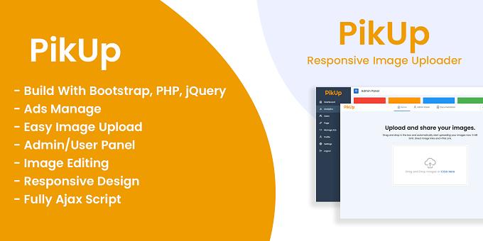 PikUp - Responsive Multiple Image Uploader and Shorten Url